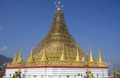Buddhist pagoda under renovation Stock Images