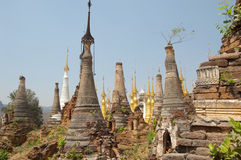 Buddhist pagodas Royalty Free Stock Image