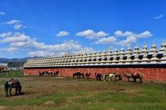 Buddhist pagodas Stock Photo