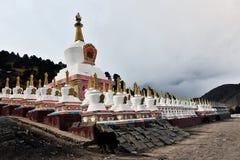 Buddhist pagodas. In ganzi,Tibet Stock Photos