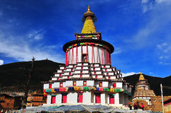 Buddhist pagodas. In qujie monastery in tibet Stock Photography