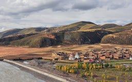 Buddhist pagodas. In qujie monastery in tibet Stock Image