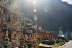 Buddhist pagodas by the road Stock Photos