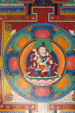 Buddhist painting at ceiling of a gate Stock Image