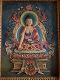Buddhist Painting. A Painting of the Holy Buddha at a local hotel in Bangalore Royalty Free Stock Image
