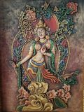 Buddhist painting. At a local hotel in Bangalore Stock Photography