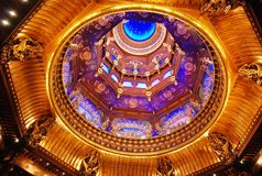 Buddhist palace interior. In Lingshan, wuxi,China. Vivid features and stars on the ceilings Royalty Free Stock Photo
