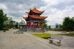 The Buddhist pavilion in Chongshen monastery. Royalty Free Stock Image