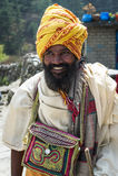 Buddhist pilgrim portrait Royalty Free Stock Image