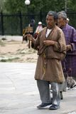 Buddhist pilgrim, Thimphu, Bhutan Stock Photos