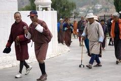 Buddhist pilgrims, Thimphu, Bhutan Stock Images