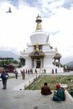 Buddhist pilgrims, Thimphu, Bhutan Royalty Free Stock Image
