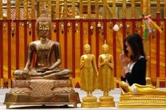 Buddhist prayer stock image