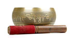 Buddhist prayer bowl Royalty Free Stock Image