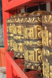 Buddhist prayer drums Stock Photos