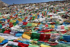 Buddhist prayer flags Stock Images