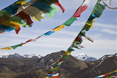 Buddhist prayer flags Stock Photo
