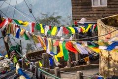 Buddhist prayer flags Royalty Free Stock Image