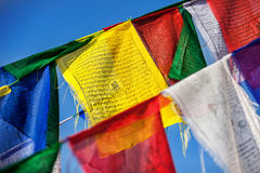 Buddhist prayer flags Royalty Free Stock Images