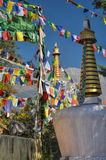 Buddhist prayer flags in  Dharamshala, India. Colorful buddhist prayer flags in town of  Dharamshala, Himachal Pradesh, India Stock Images