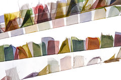 Buddhist prayer flags. Fluttering on the wind Stock Photos