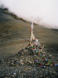 Buddhist prayer flags in Himalayas Royalty Free Stock Photos