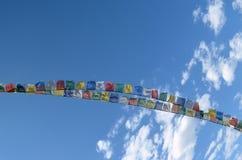 Buddhist Prayer Flags in Ladakh India. Stock Photos