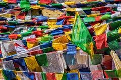 Buddhist prayer flags lungta Stock Photo