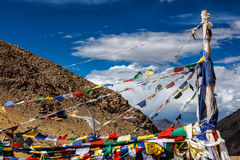 Buddhist prayer flags lungta Stock Photography