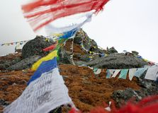 Buddhist prayer flags in Nepal Stock Image