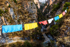 Buddhist prayer flags Royalty Free Stock Photo