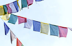 Buddhist prayer flags t Royalty Free Stock Photo
