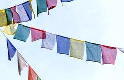 Buddhist prayer flags t Royalty Free Stock Photo
