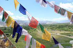 Buddhist Prayer Flags. Stock Photo