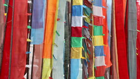 Buddhist Prayer Flags stock footage
