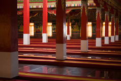 Buddhist Prayer Hall. Royalty Free Stock Photos