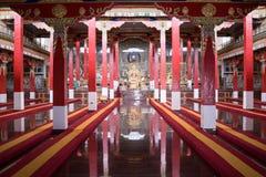Buddhist Prayer Hall. Royalty Free Stock Images