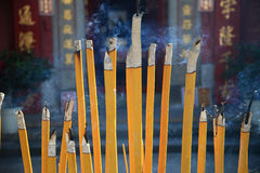 Buddhist prayer joss sticks Royalty Free Stock Image