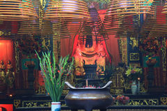 Buddhist prayer joss sticks Stock Photos