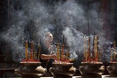 Buddhist prayer royalty free stock images