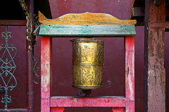 Buddhist prayer mill Royalty Free Stock Photography