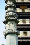 Buddhist Prayer Pillar Zhenru Temple Stock Photography