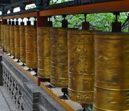 Buddhist prayer rolls royalty free stock photo