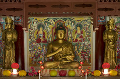 Buddhist prayer statue in Pohyon temple North Korea Stock Images