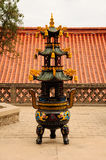 Buddhist Prayer Urn Royalty Free Stock Photography