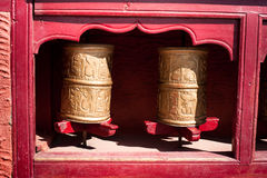 Buddhist prayer wheel. India Stock Photo
