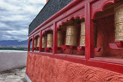 Buddhist prayer wheel Stock Photos