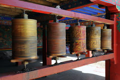 Buddhist prayer wheels Stock Image