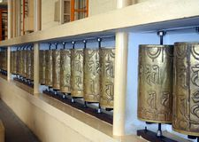 Buddhist Prayer Wheels Royalty Free Stock Photography