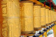 Buddhist prayer wheels Royalty Free Stock Photography